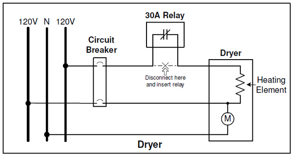 relay installation on clothes dryer figure 1