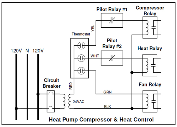 240 Volt Electric Heat With Sequencer And 2 Element Wire Diagram ...