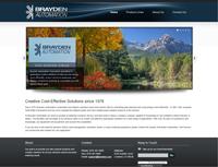 screenshot of brayden.com website