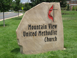 Mountain View United Methodist Church Marker