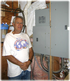 Tom Harr iwht his Energy Sentry Demand Controller